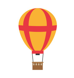 Funny air balloon cute entertainment vector