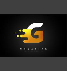 G melted golden letter logo design creative vector