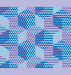 geometry hexagon color seamless fabric sample vector image
