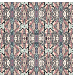 geometry vintage floral seamless pattern vector image
