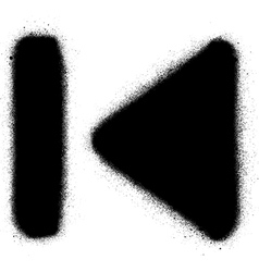 Go to start media graffiti spray icon in black vector