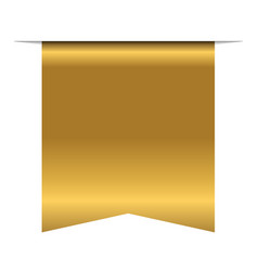 Gold bookmark banner 3d vertical book mark vector