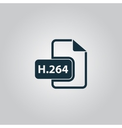 H264 video file extension icon vector