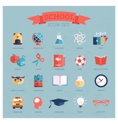 Icon set for school vector