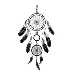 Indian black dream catcher vector