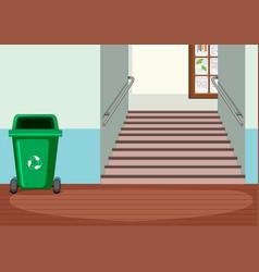 Interior design indoor hallway vector
