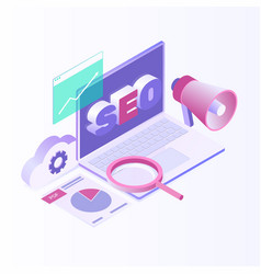 Isometric design modern vector