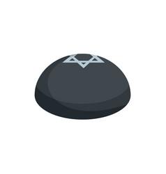 kipa hat icon flat style vector image