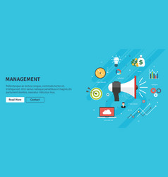management and strategy announcement and business vector image