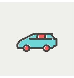 Minivan thin line icon vector image