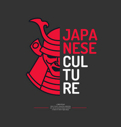 Modern poster japanese culture with samurai vector