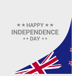 New zealand independence day typographic design vector