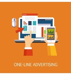 On-line Advertisement Concept Art vector