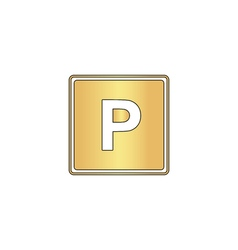 Parking computer symbol vector image