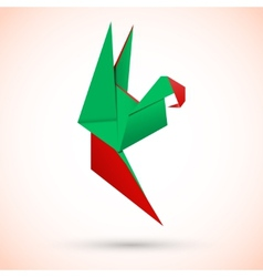 Parrot origami vector image