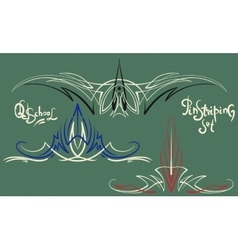 Pinstriping ornaments set vector