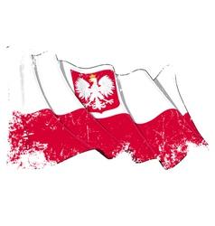 Poland State Flag Grunge vector