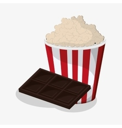 Pop corn and chocolate design vector