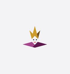 queen icon logo symbol element vector image