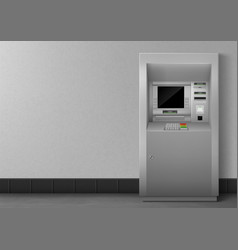 realistic atm vector image