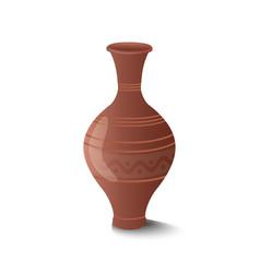Realistic clay pot vector