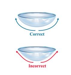 Realistic contact lenses form vector
