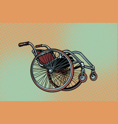 Realistic wheelchair symbol international day of vector