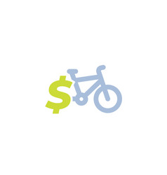 rent bike bicycle for sale icon vector image