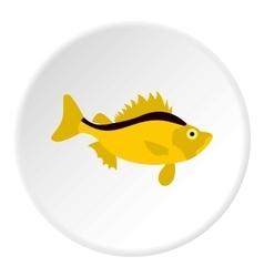 Ruff fish icon flat style vector