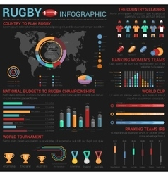 Rugby or american football infographic template vector image