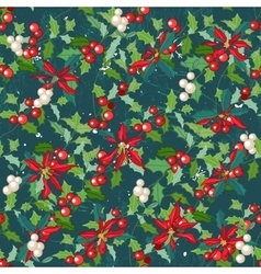 Seamless dark green pattern with traditional vector image