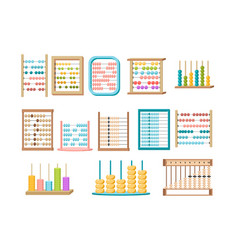 Set abacus mathematics or arithmetic vector