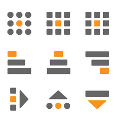 set icons hamburger menu kebab menu bento menu vector image