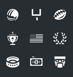 set of american football icons vector image