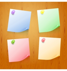 Set of color stickers vector