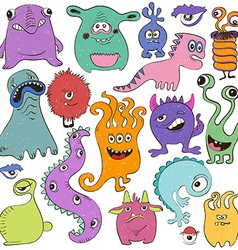 Set Of Isolated Cartoon Monsters vector