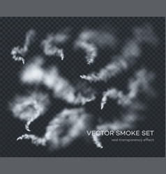 smoke a set different realistic vector image
