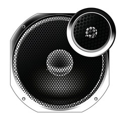 speaker from the radio vector image