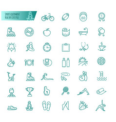 sport sports equipment healthy lifestyle icons vector image