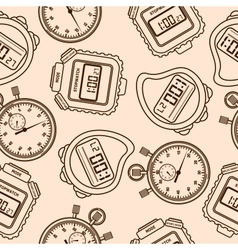 Stopwatch Seamless vector image vector image
