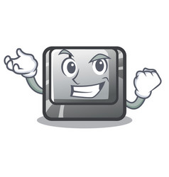 successful button i in character shape vector image