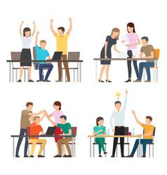 Successful team business idea vector