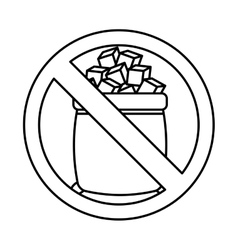 Sugar free seal icon vector