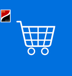 supermarket shopping trolley vector image