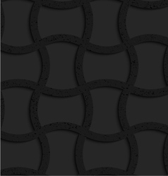 Textured black plastic arched rectangles grid vector image