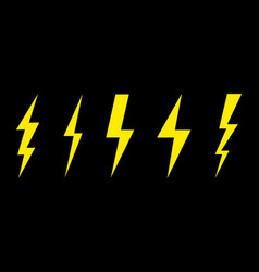 thunder and lightning lighting bolt flash icon vector image