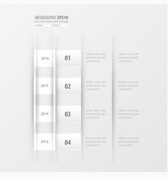 timeline design design white color vector image