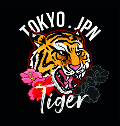 Tokyo jpn tiger vector