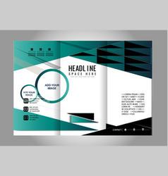 Tri-fold brochure design soft wave vector
