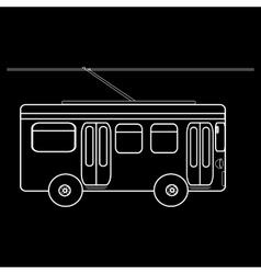 Trolleybus city municipal public transport vector image
